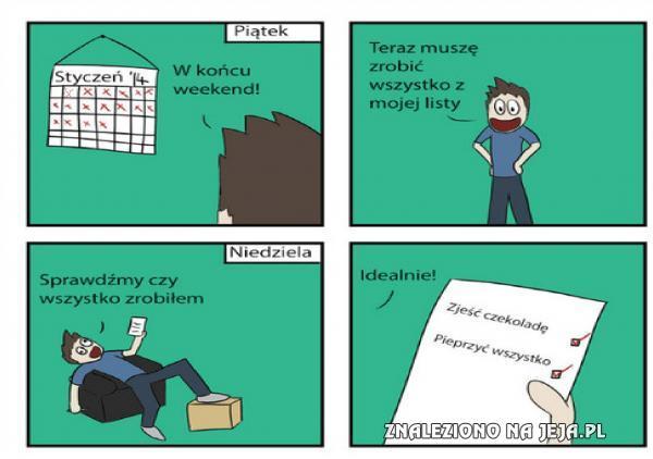Plan na weekend