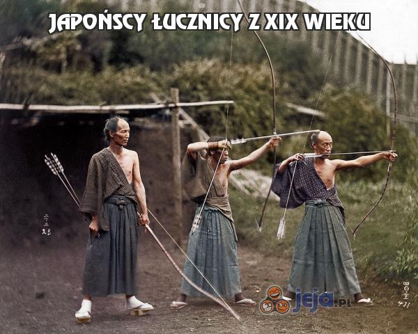 Japońscy łucznicy z XIX wieku