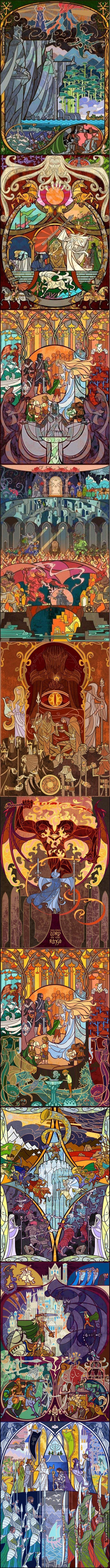 Witraże z Władcy Pierścieni