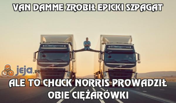 Van Damme zrobił epicki szpagat