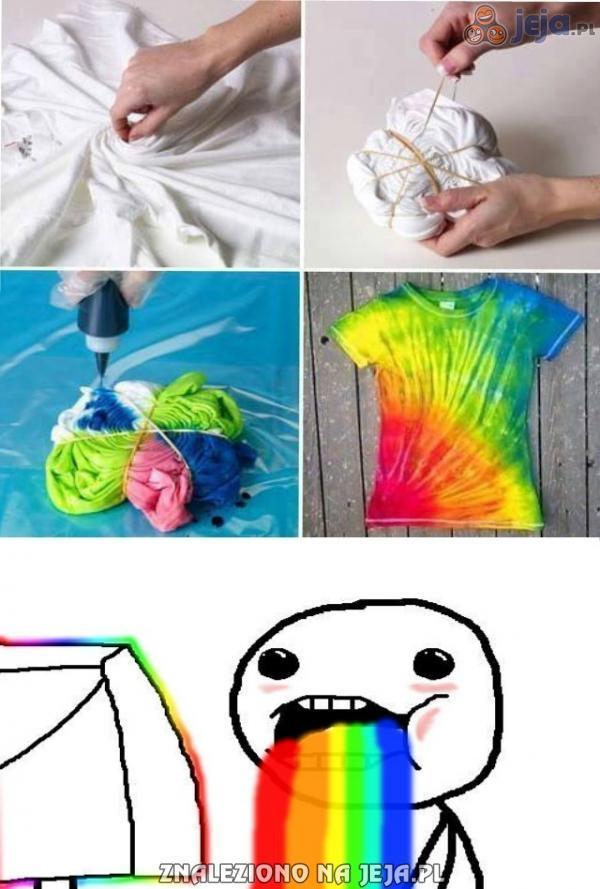 Tęczowa koszulka