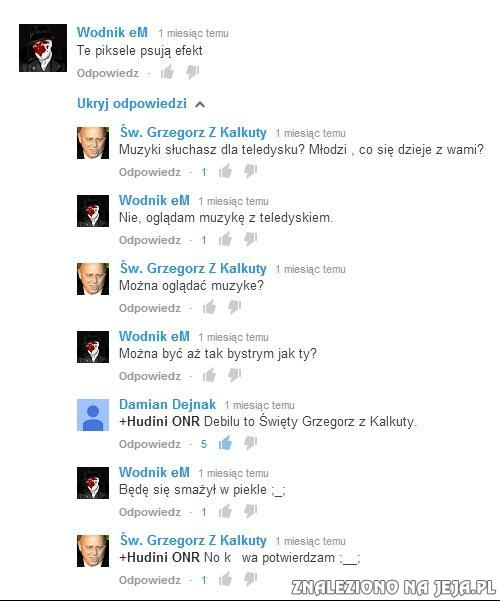 Komentarze na Youtube...