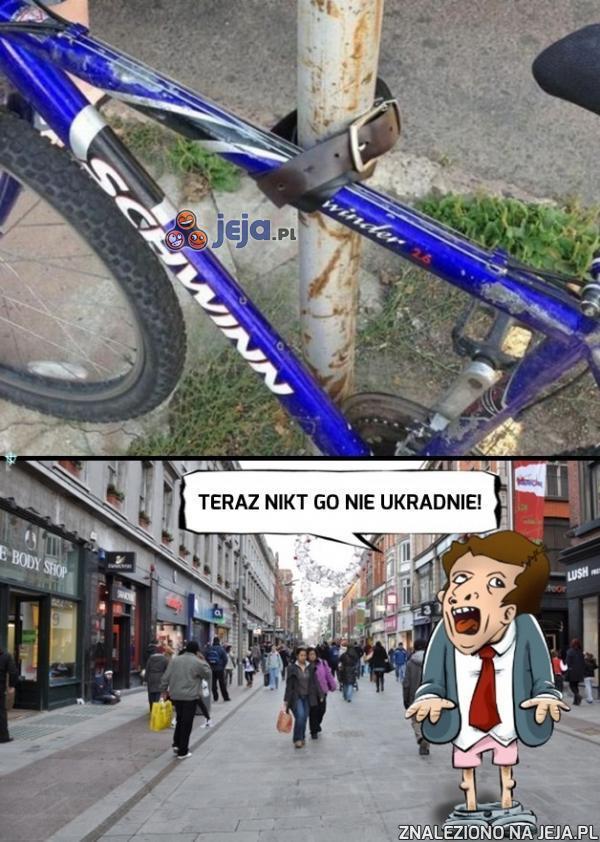 Brawo, ten rower już jest bezpieczny!