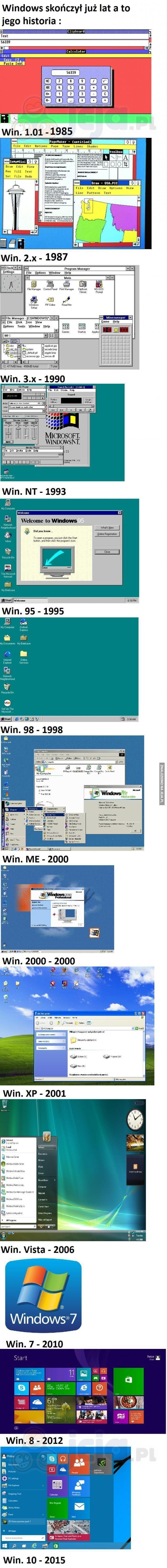 Jak zmieniał się Windows