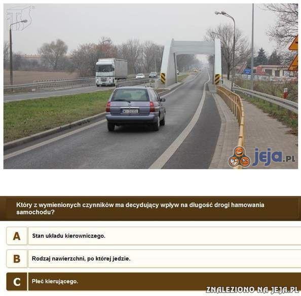 Egzamin na prawo jazdy