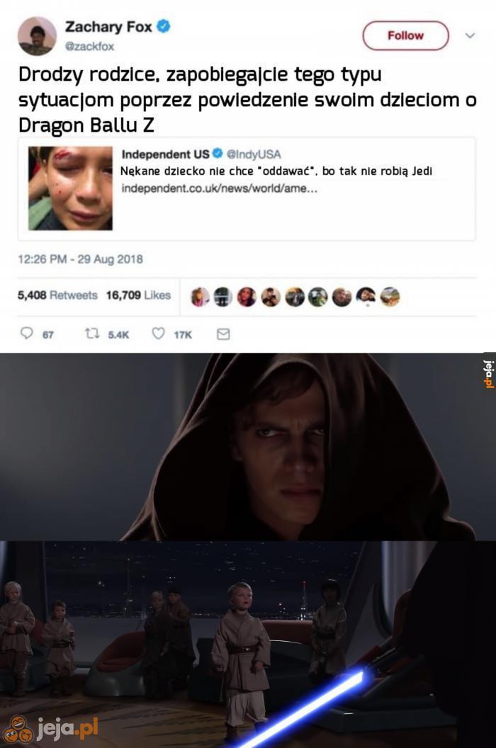 Chyba oglądał jakieś inne Star Warsy