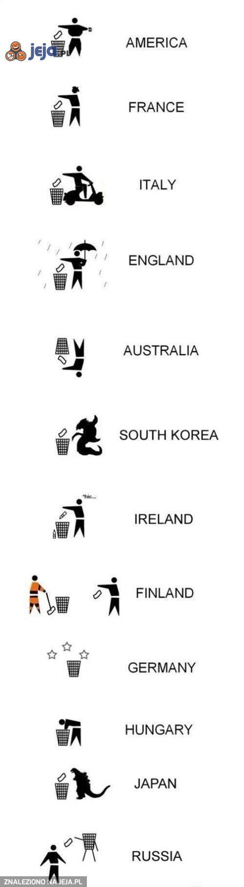 Tak się wyrzuca śmieci w różnych krajach