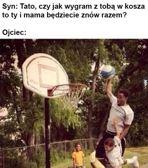 Mecz koszykówki z tatą