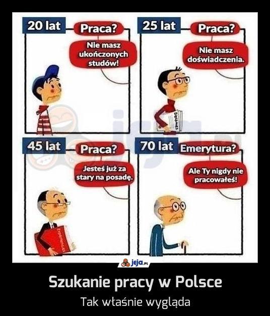 Szukanie pracy w Polsce