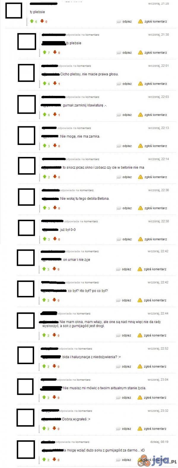 Typowa kłótnia na Jeja