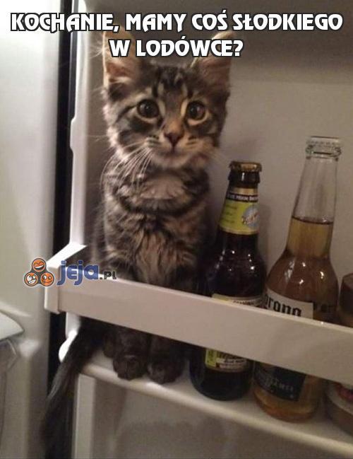 Kochanie, mamy coś słodkiego w lodówce?