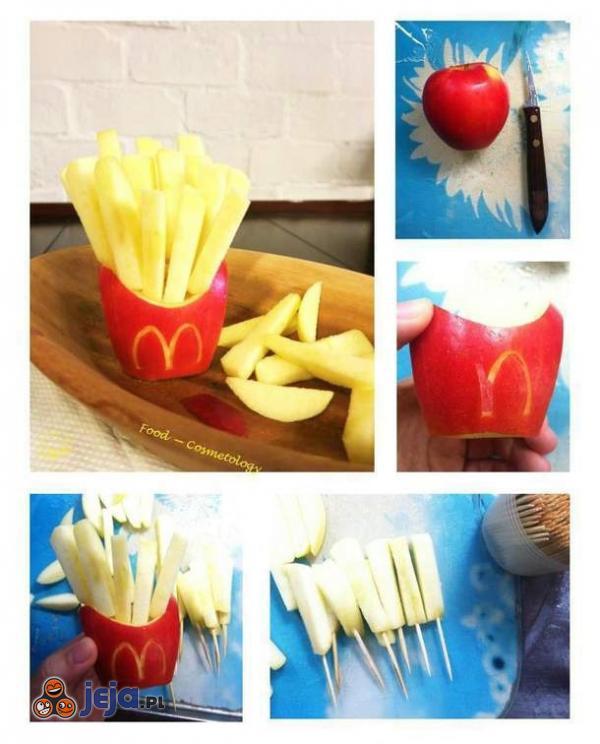 Zdrowe jedzenie przebrane za fast-food