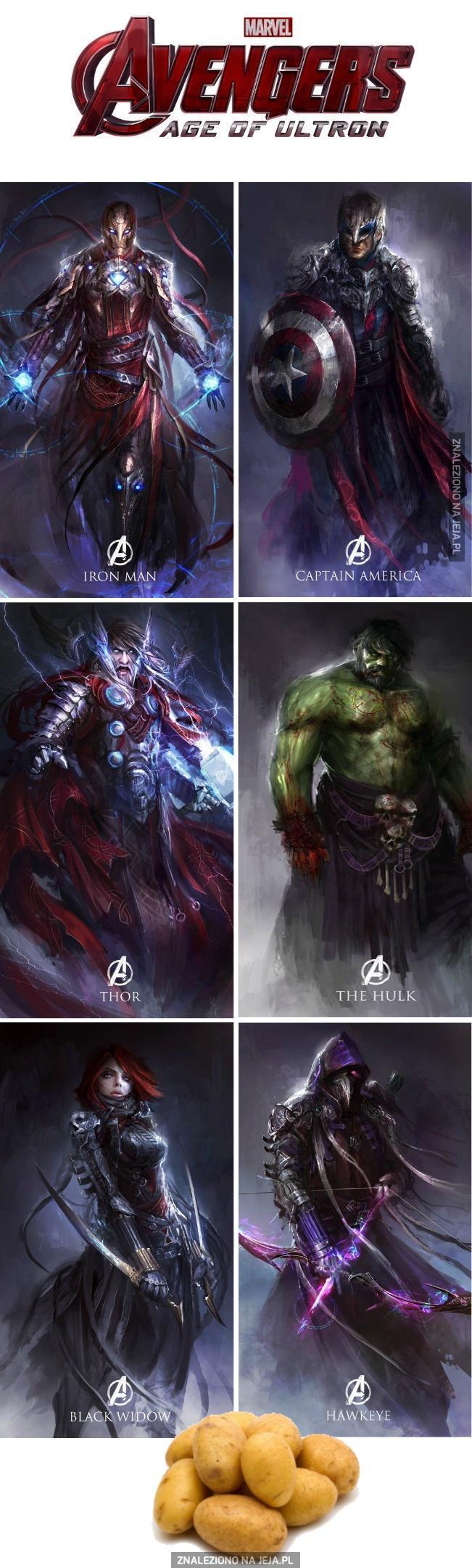 Avengersi jako wojownicy fantasy