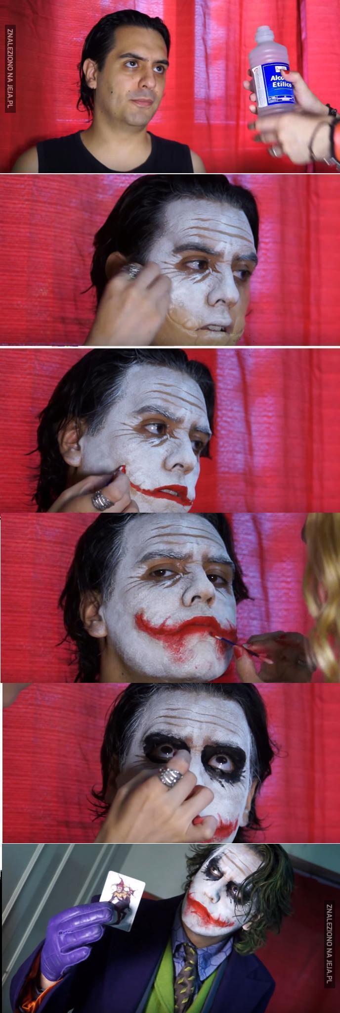 Niesamowity makijaż na Jokera