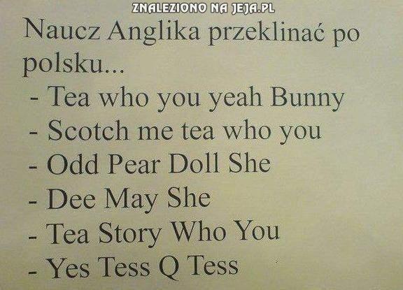 Naucz anglika przeklinać po polsku