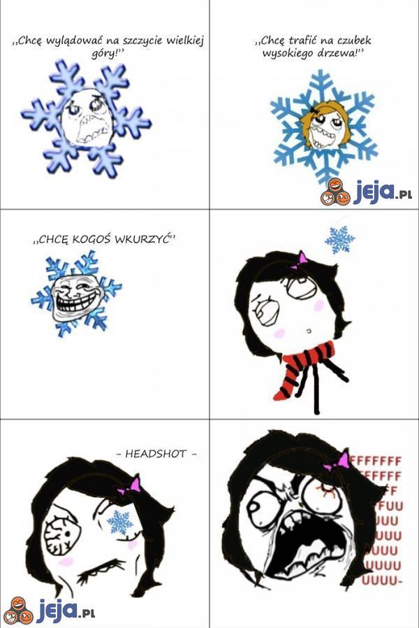 Troll - śnieżynka