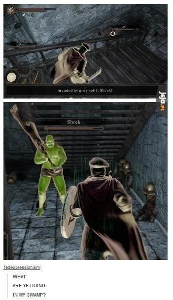 Shrek w Dark Soulsach