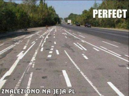 Perfekcyjne linie na drodze