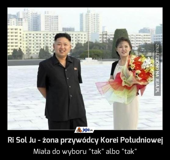 Ri Sol Ju - żona przywódcy Korei Południowej