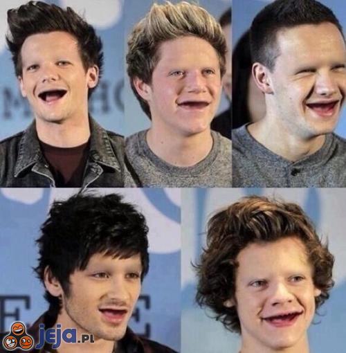 Gdyby One Direction nie mieli brwi i zębów