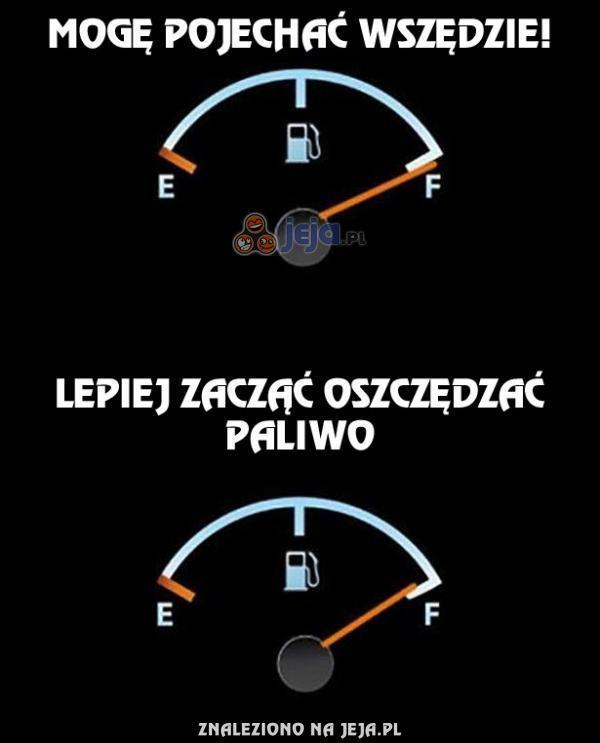 Proces myślenia o paliwie