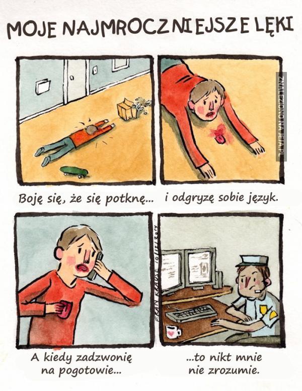 Moje najmroczniejsze lęki: Język