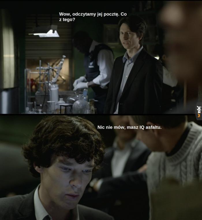 Sherlock - mistrz ciętej riposty