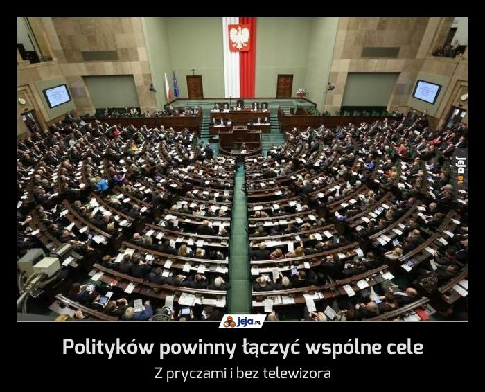 Polityków powinny łączyć wspólne cele