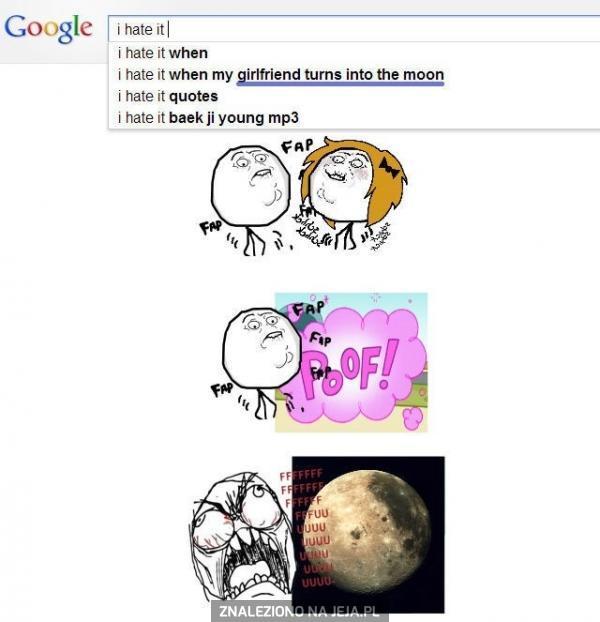 Nienawidzę, gdy dziewczyna zmienia się w księżyc