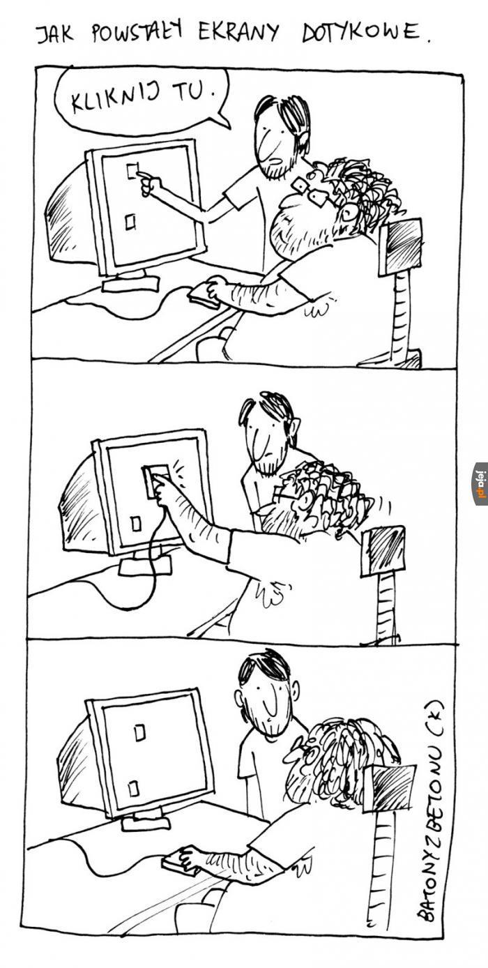 Jak powstały ekrany dotykowe