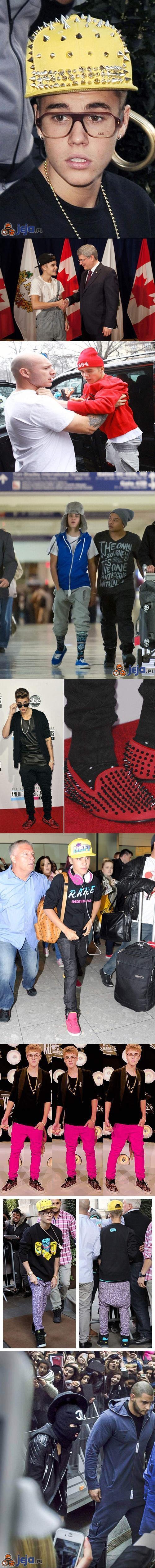 Justin i jego stroje...