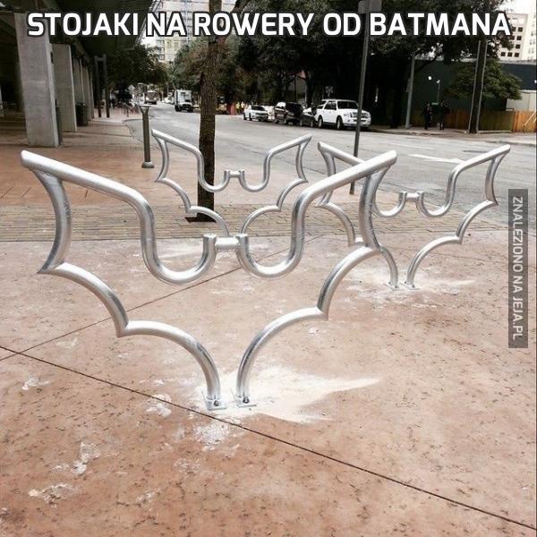 Stojaki na rowery od Batmana