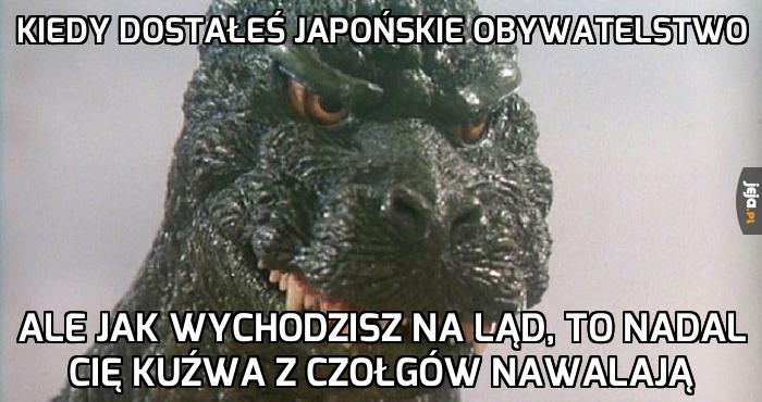 No przecież jestem Japończykiem