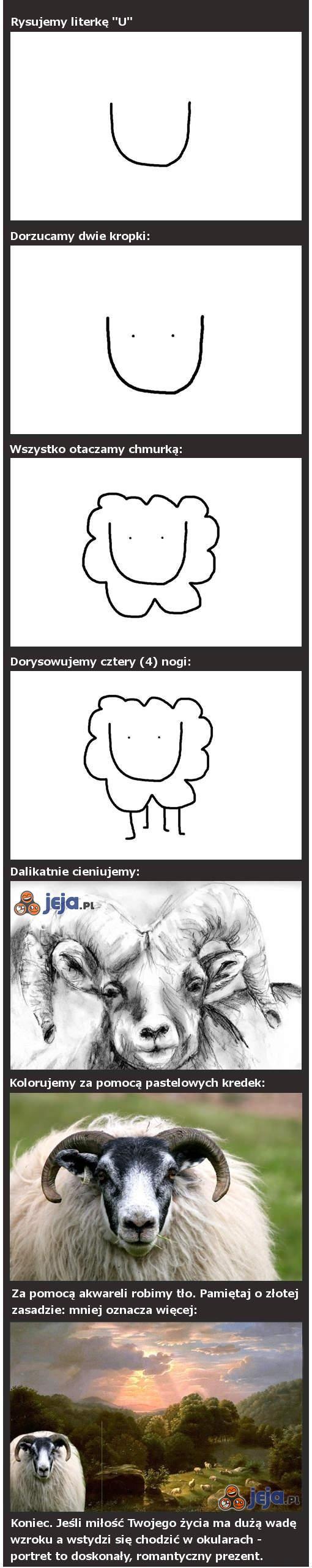 Jak narysować barana