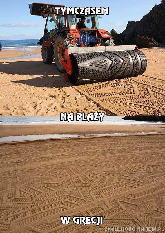 Tymczasem na plaży w Grecji