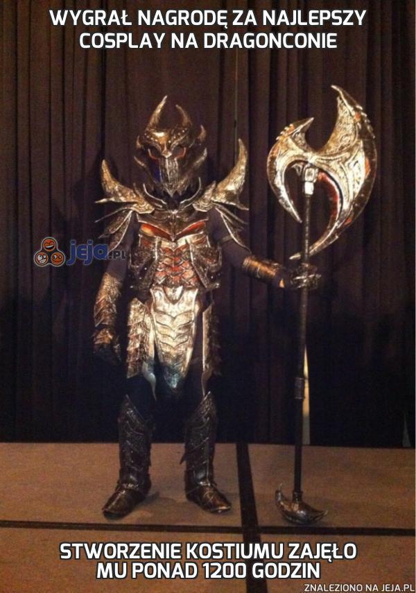 Wygrał nagrodę za najlepszy cosplay na DragonConie