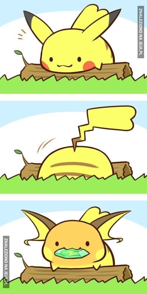Pikachu znalazł Thunderstone