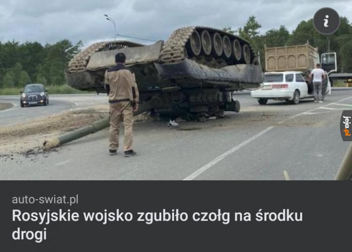 Mi kiedyś zakupy wypadły, ale czołg nigdy