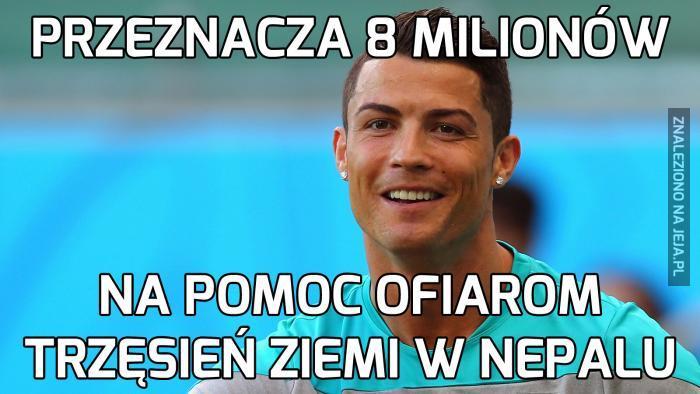 Ronaldo ma wielkie serce