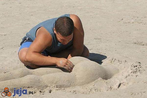 Pośladki na plaży