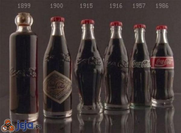 Coca-Cola na przestrzeni lat