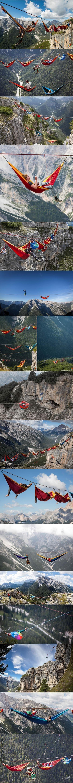 Nie ma to jak relaksik na hamaku w Alpach