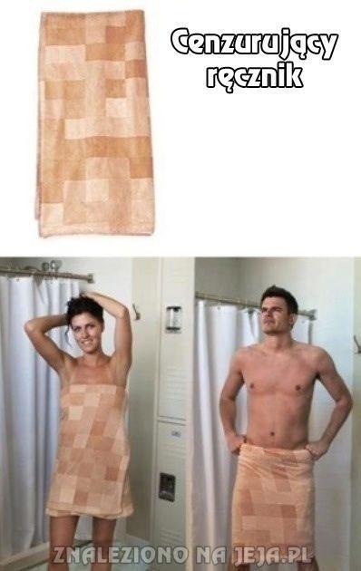 Cenzurujący ręcznik - poczuj się jak Sim