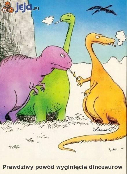 Powód wyginięcia dinozaurów