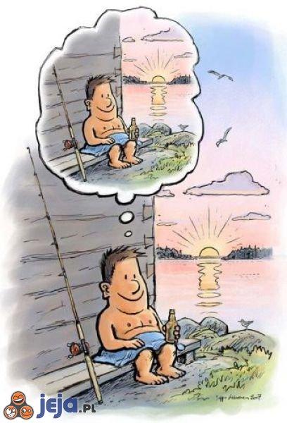 Facet na rybach