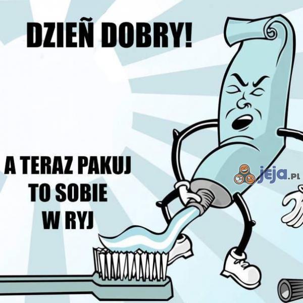Zacznij dzień od mycia zębów