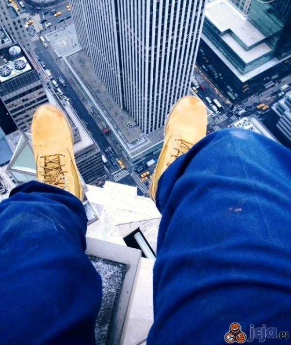 Widok w pracy na wysokościach