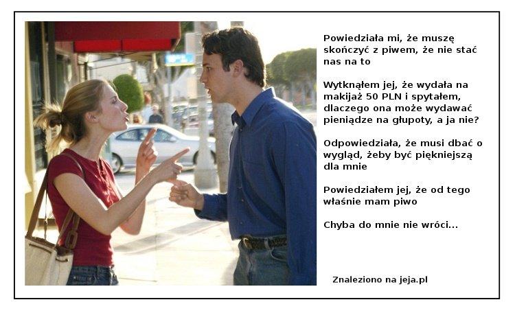 Kłótnia chłopaka i dziewczyny