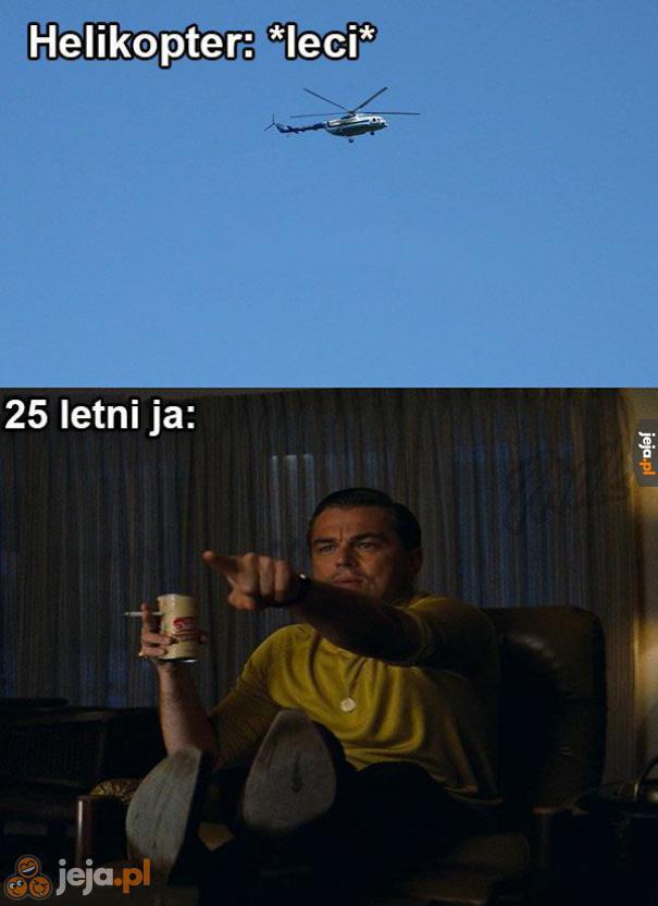 Panie pilocie, ma pan dziurę w helikopterze!