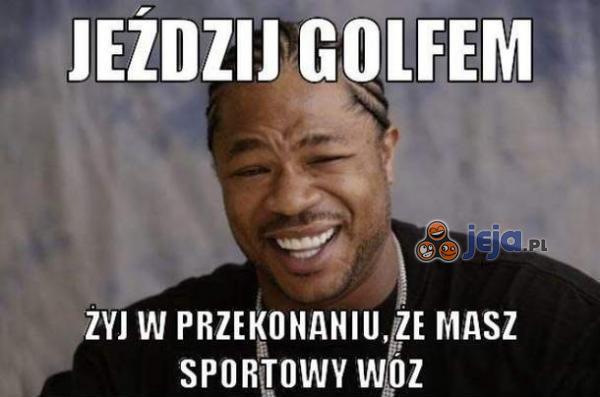 Jeździj golfem